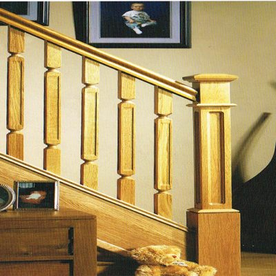 Oriel Rebated Spindles and a Box Newel
